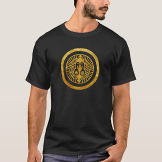 Ikko Ikki Mon Japanese clan faux gold on black T-Shirt