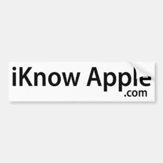 iKnow Apple Bumper Sticker (Simple)