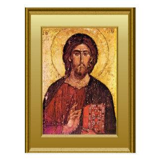 Ikon of an apostle postcard