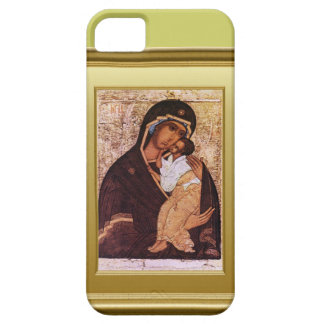 Ikon of the Virgin Mary and Jesus iPhone 5 Cases