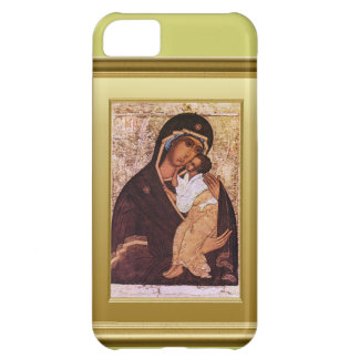Ikon of the Virgin Mary and Jesus iPhone 5C Covers
