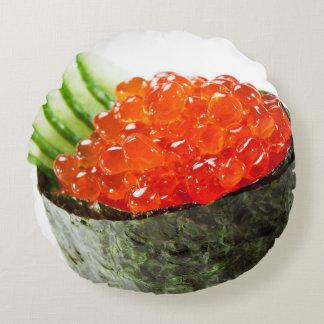 Ikura (Salmon Roe) Gunkan Maki Sushi Round Cushion