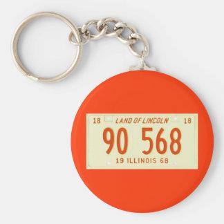 IL68 BASIC ROUND BUTTON KEY RING