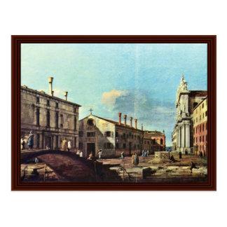 Il Campo Dei Gesuiti E La Chiesa A Venezia Postcard