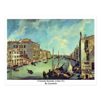 Il Canale Grande, A San Vio By Canaletto Postcard