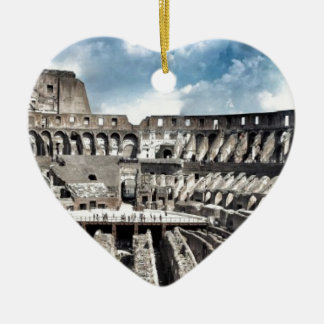 Il Colosseo I gave Rome Ceramic Heart Decoration