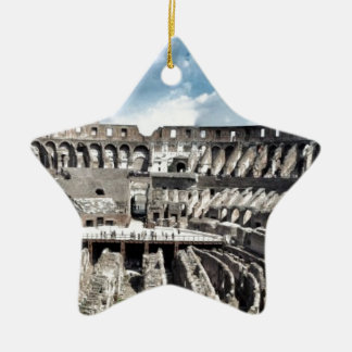 Il Colosseo I gave Rome Double-Sided Star Ceramic Christmas Ornament