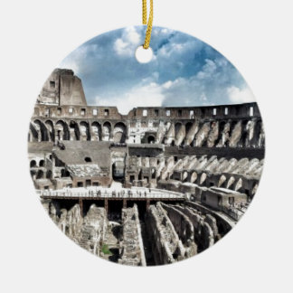 Il Colosseo I gave Rome Round Ceramic Decoration
