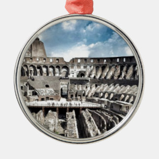 Il Colosseo I gave Rome Silver-Colored Round Decoration