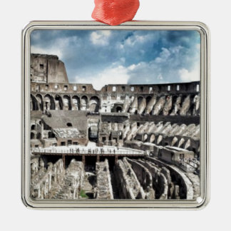 Il Colosseo I gave Rome Silver-Colored Square Decoration