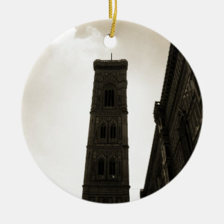Il Duomo Di Firenze Bell Tower Christmas Ornaments