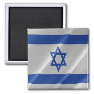 IL - Israel - Israeli Flag Waving Square Magnet