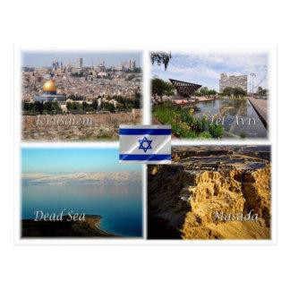IL Israel - Jerusalem Tel Aviv - Dead Sea - Masada Postcard