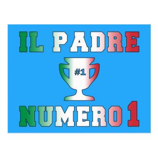 Il Padre Numero 1 #1 Dad in Italian Father's Day Postcard