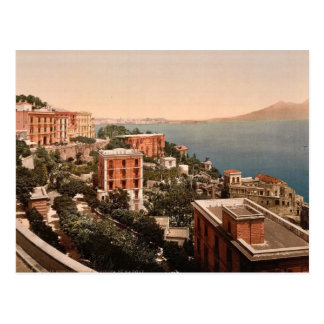 Il Posilippo and waterfront, Naples, Italy vintage Post Card