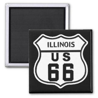 IL US ROUTE 66 FRIDGE MAGNETS