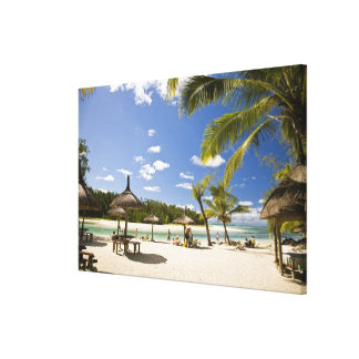 Ile Aux Cerf, most popular day trip for 3 Canvas Print
