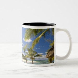 Ile Aux Cerf, most popular day trip for 3 Two-Tone Coffee Mug