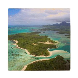 Ile Aux Cerfs, Mauritius Wood Coaster