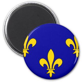 ile-De-France, France flag Magnets