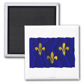 Île-de-France waving flag Refrigerator Magnets