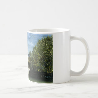 Ile de la Cite by Henri Rousseau Basic White Mug