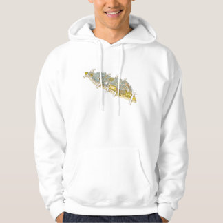 Ile-de-la-Cite. Paris France Hoodie