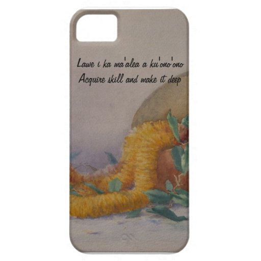 Ilima and Calabash with Hawaiian Proverb iPhone 5 Case