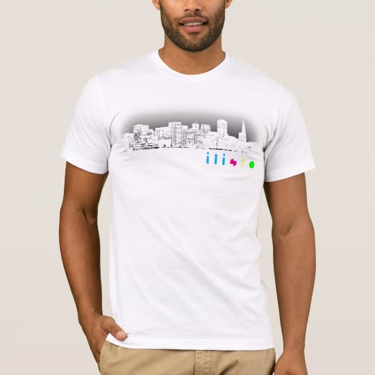 ilisfo Skyline White T-Shirt