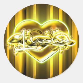 Ilisha -  ilisha round sticker