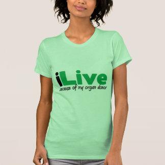 iLive Transplant T Shirts