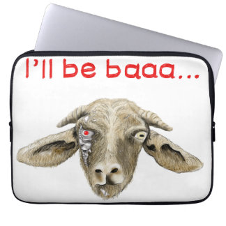 I'll be Baaa Funny Goat Art Science Fiction Design Laptop Sleeve
