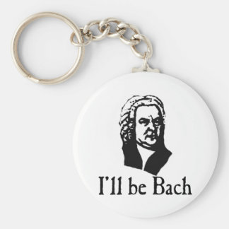 I'll Be Bach Basic Round Button Key Ring