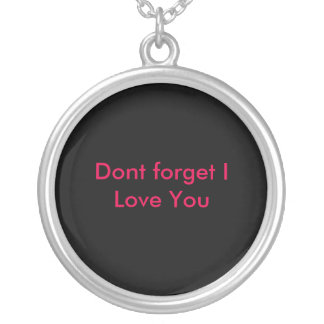 ill be back silver plated necklace