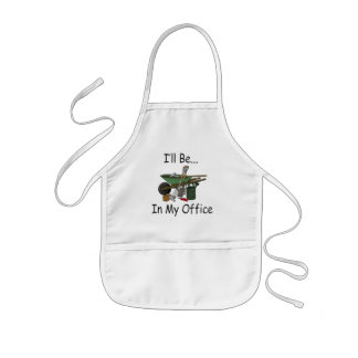 I'll Be in My Office Garden Kids Apron