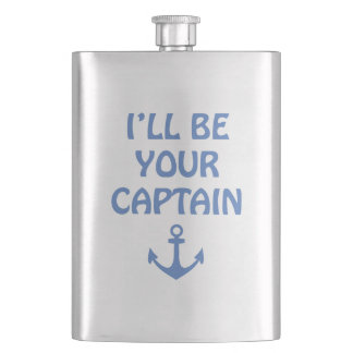 Ill Be Your Captain Hip Flask