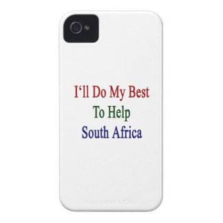 I'll Do My Best To Help South Africa Case-Mate iPhone 4 Case