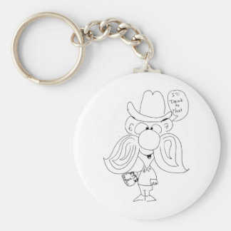 I'll Drink To That Basic Round Button Key Ring