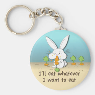I'll eat whatever I want to eat (customizable) Basic Round Button Key Ring