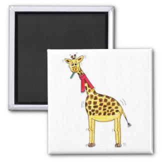 Ill giraffe square magnet