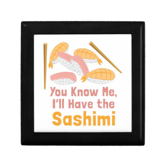 Ill Have Sashimi Small Square Gift Box