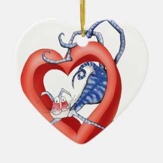 i'll jump through hoops for you, tony fernandes ceramic heart decoration