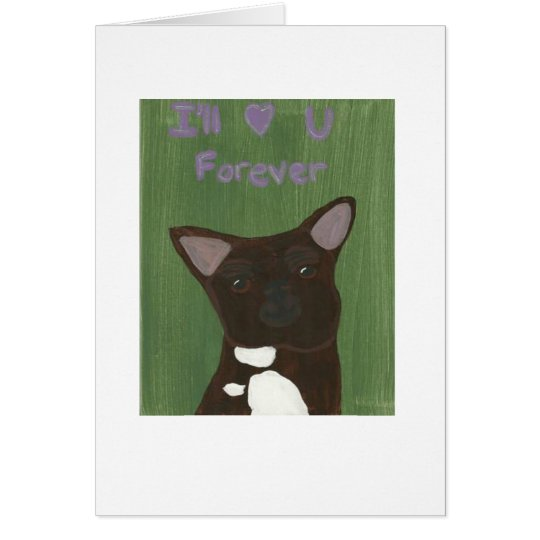 I'll love you forever card