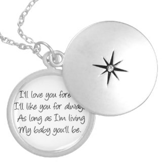 I'll love you forever round locket necklace
