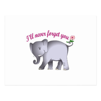 ILL NEVER FORGET YOU POSTCARD