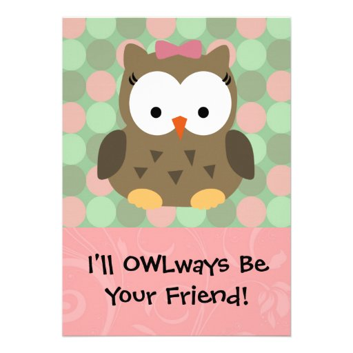 I'll OWLways be Your Friend Custom Announcements