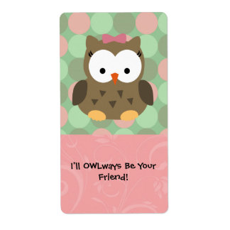 I'll OWLways be Your Friend Shipping Label