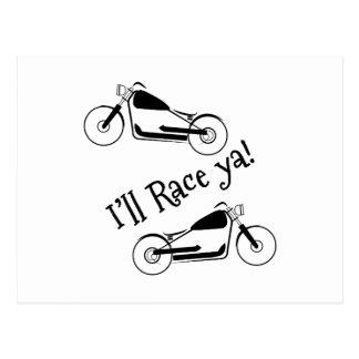 Ill Race Ya Postcard