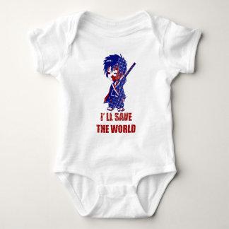 I'll Save The World Samurai Boy Baby Bodysuit