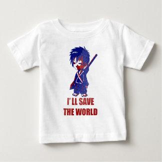 I'll Save The World Samurai Boy Baby T-Shirt